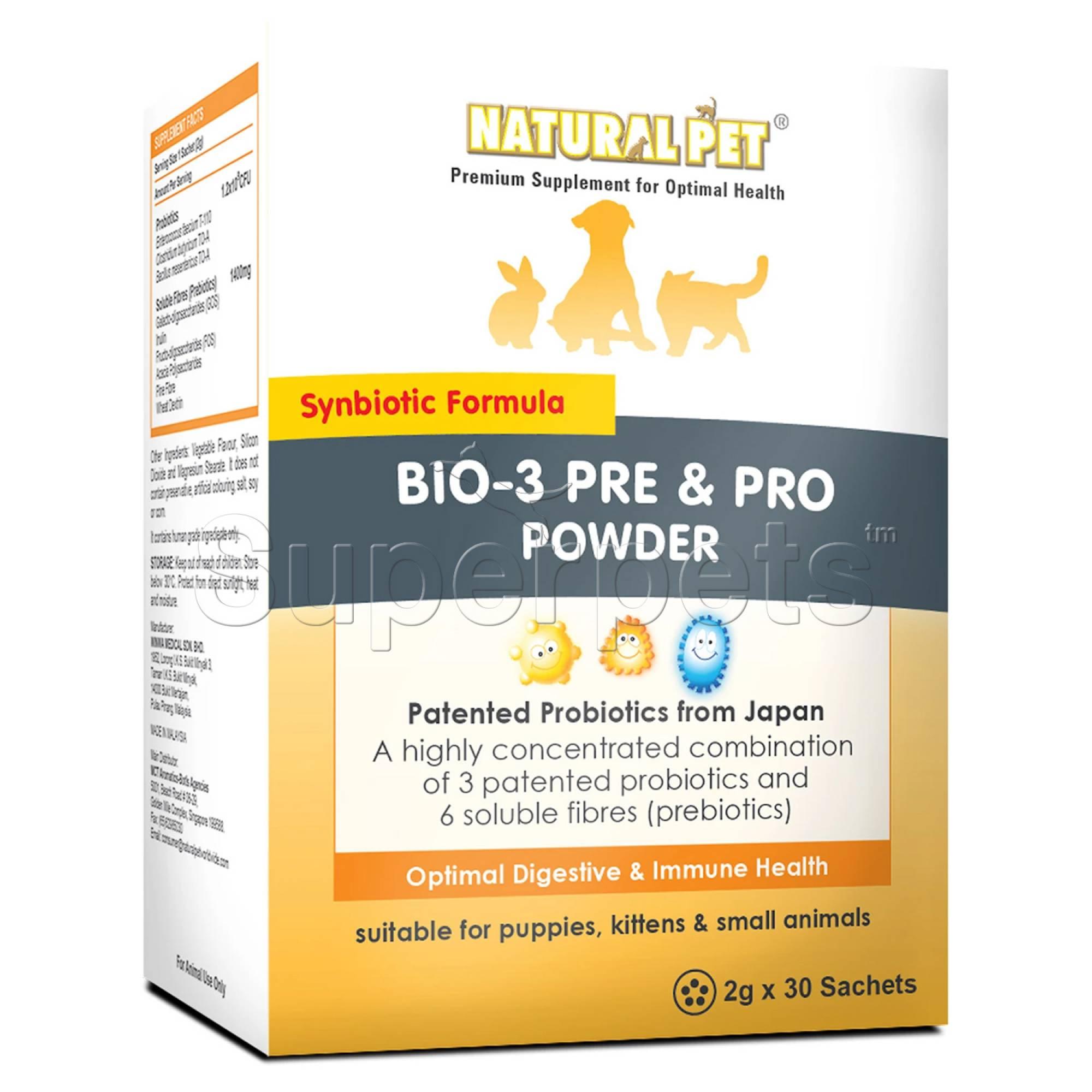 Natural Pet - Bio-3 Pre & Pro Powder - 2g x 30 Sachets