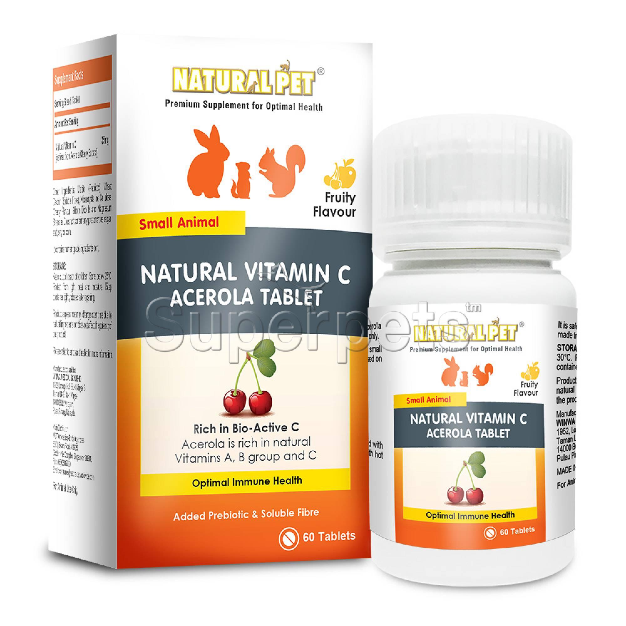 Natural Pet - Natural Vitamin C Acerola 60tabs