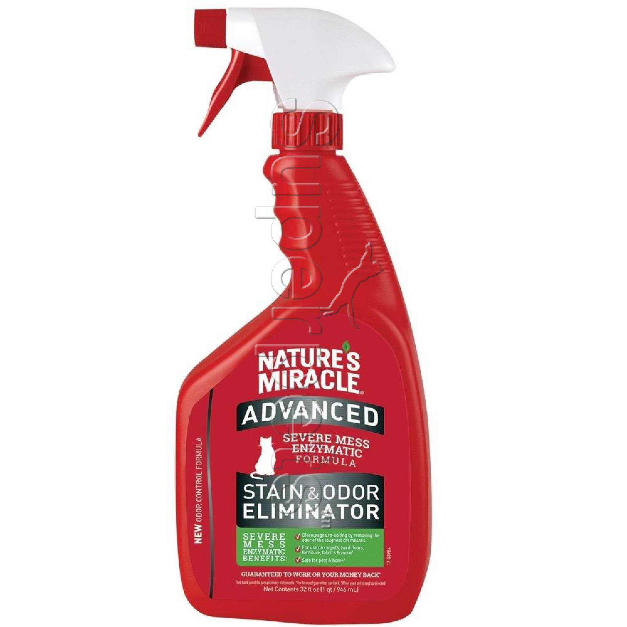 Natures Miracle Advanced Stain and Odor Eliminator Just for Cats spray 32oz (946ml)