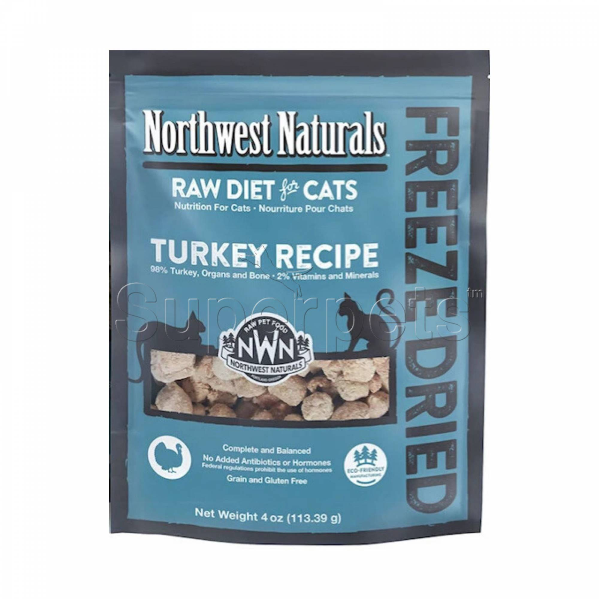 Northwest Naturals - Cat NW602 Turkey Freeze Dried Freeze Dried Nibbles 4oz