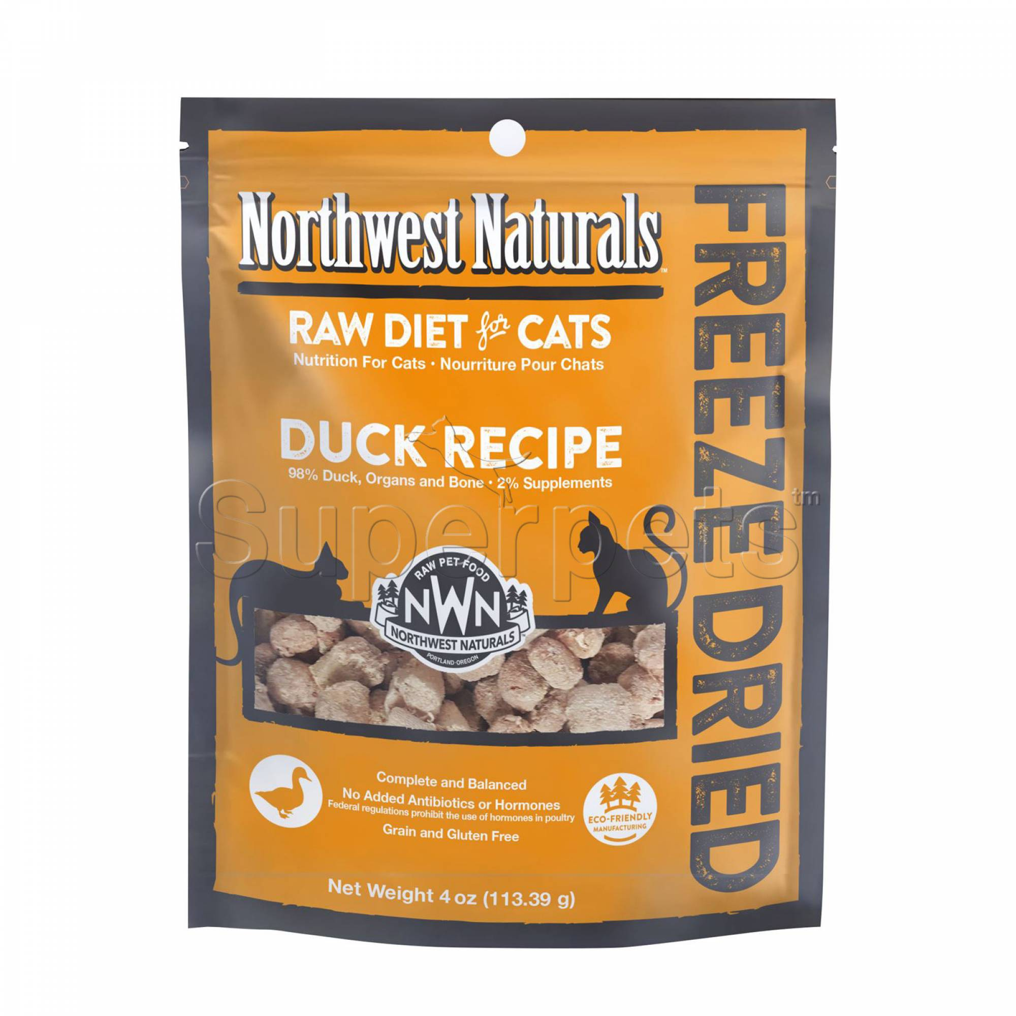 Northwest Naturals - Cat NW603 Duck Freeze Dried Freeze Dried Nibbles 4oz
