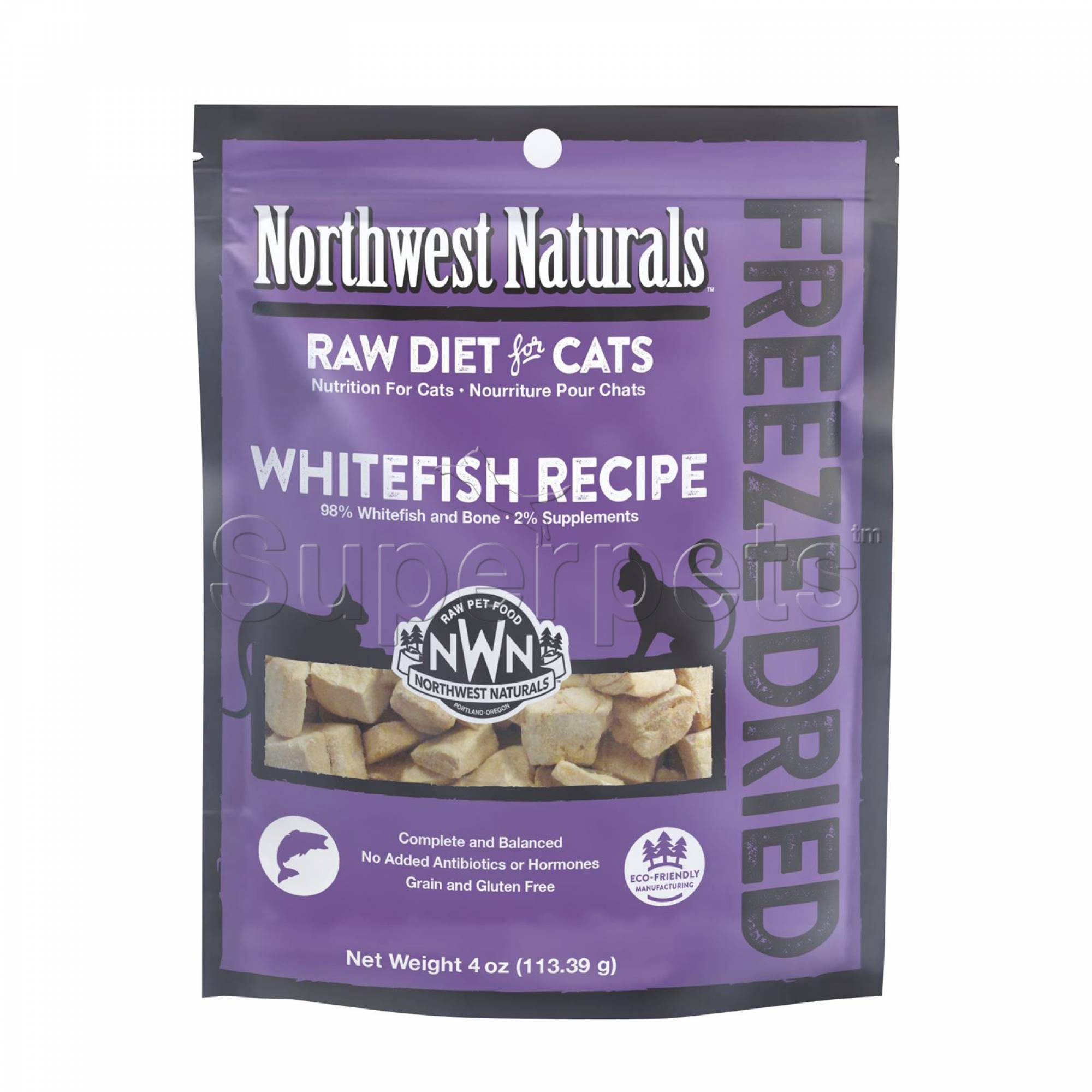 Northwest Naturals - Cat NW604 Whitefish Freeze Dried Freeze Dried Nibbles 4oz