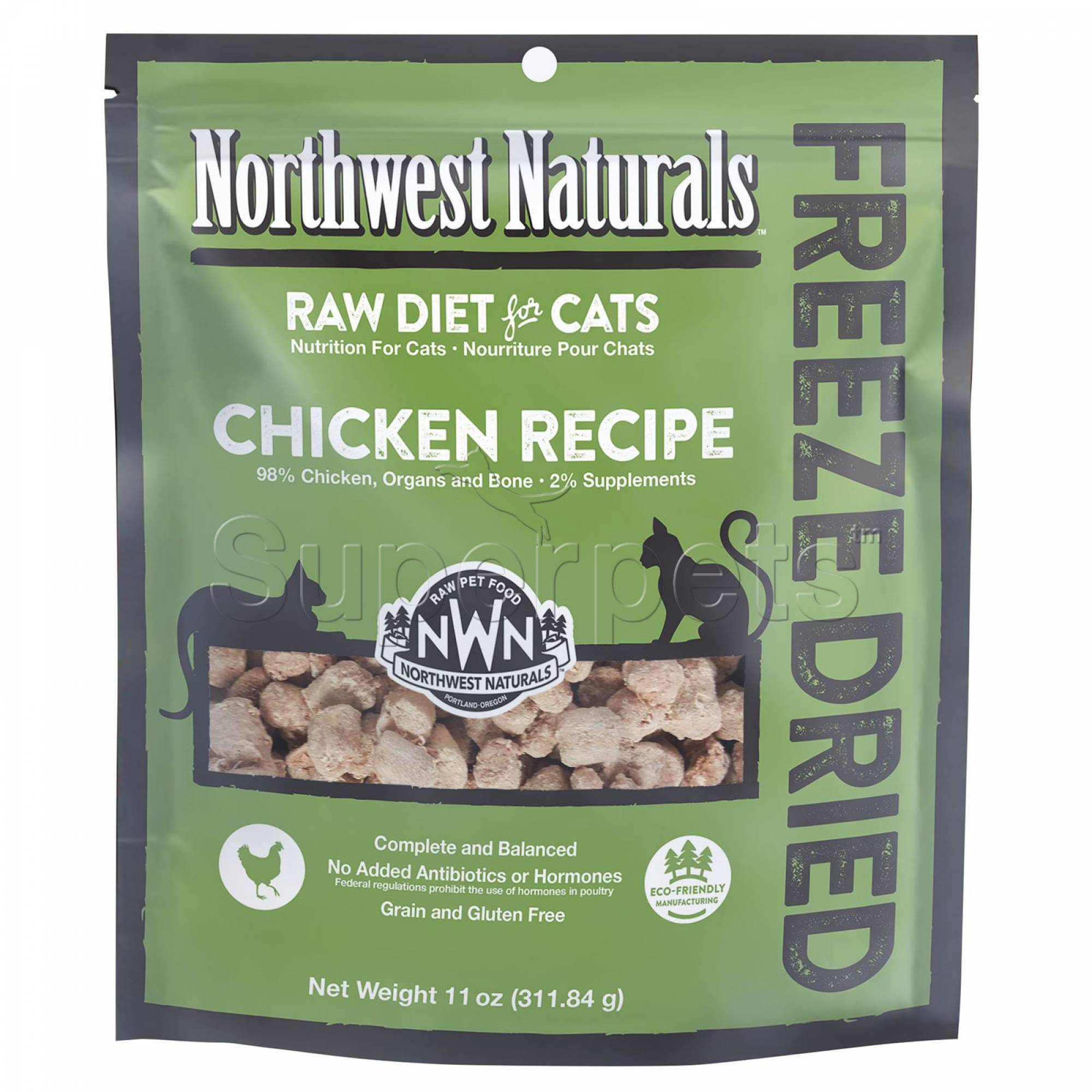 Northwest Naturals - Cat NW611 Chicken Freeze Dried Freeze Dried Nibbles 11oz