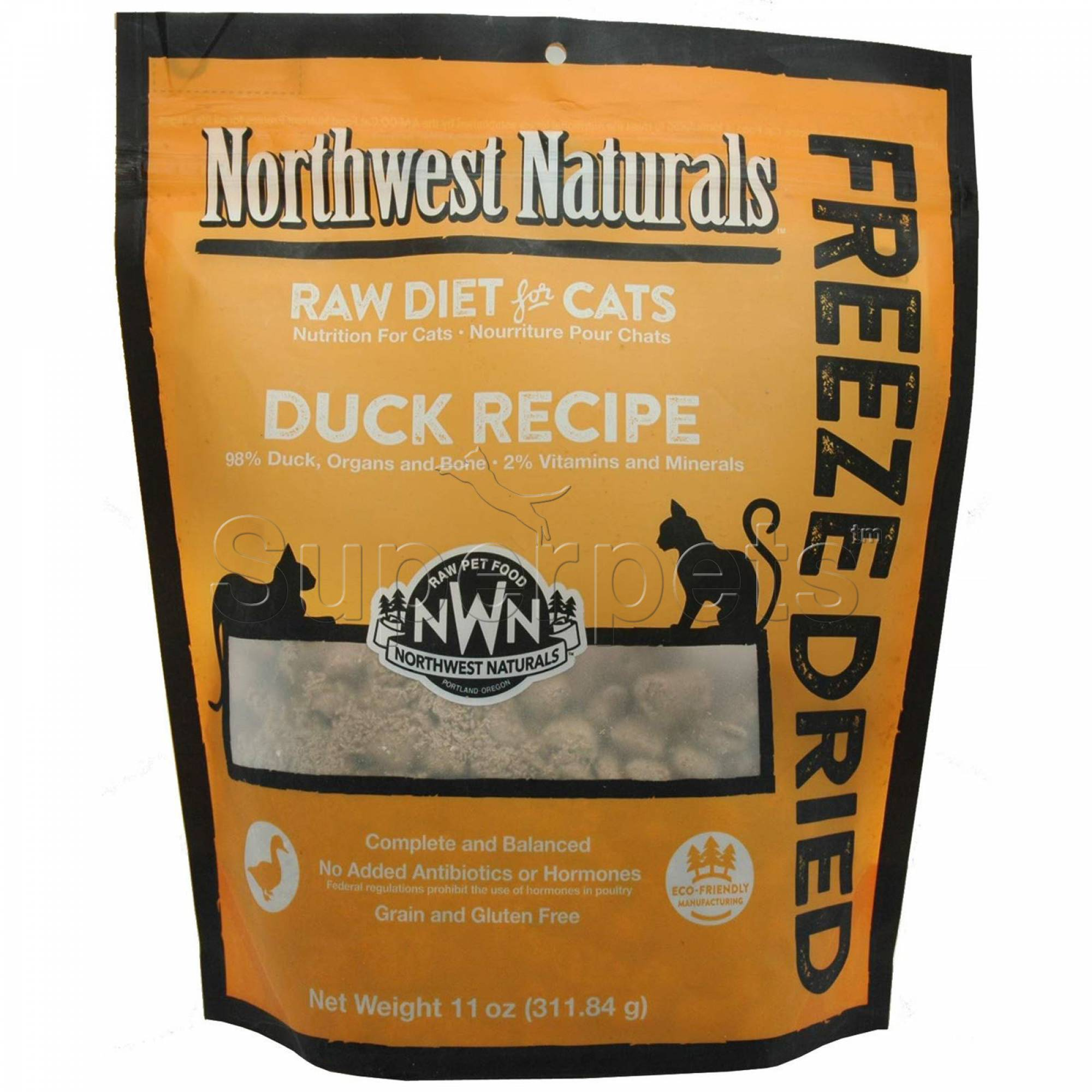 Northwest Naturals - Cat NW613 Duck Freeze Dried Freeze Dried Nibbles 11oz