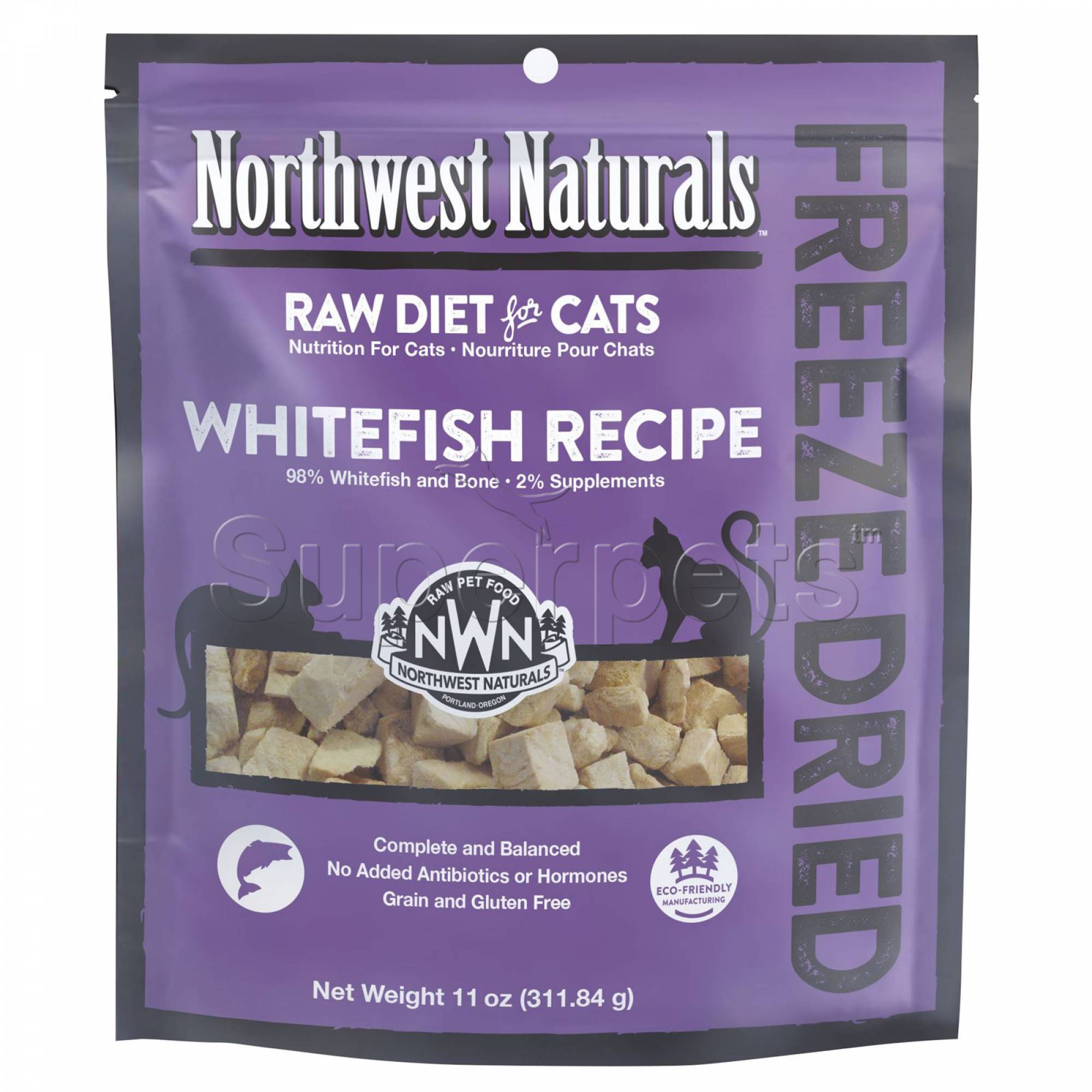 Northwest Naturals - Cat NW614 Whitefish Freeze Dried Freeze Dried Nibbles 11oz