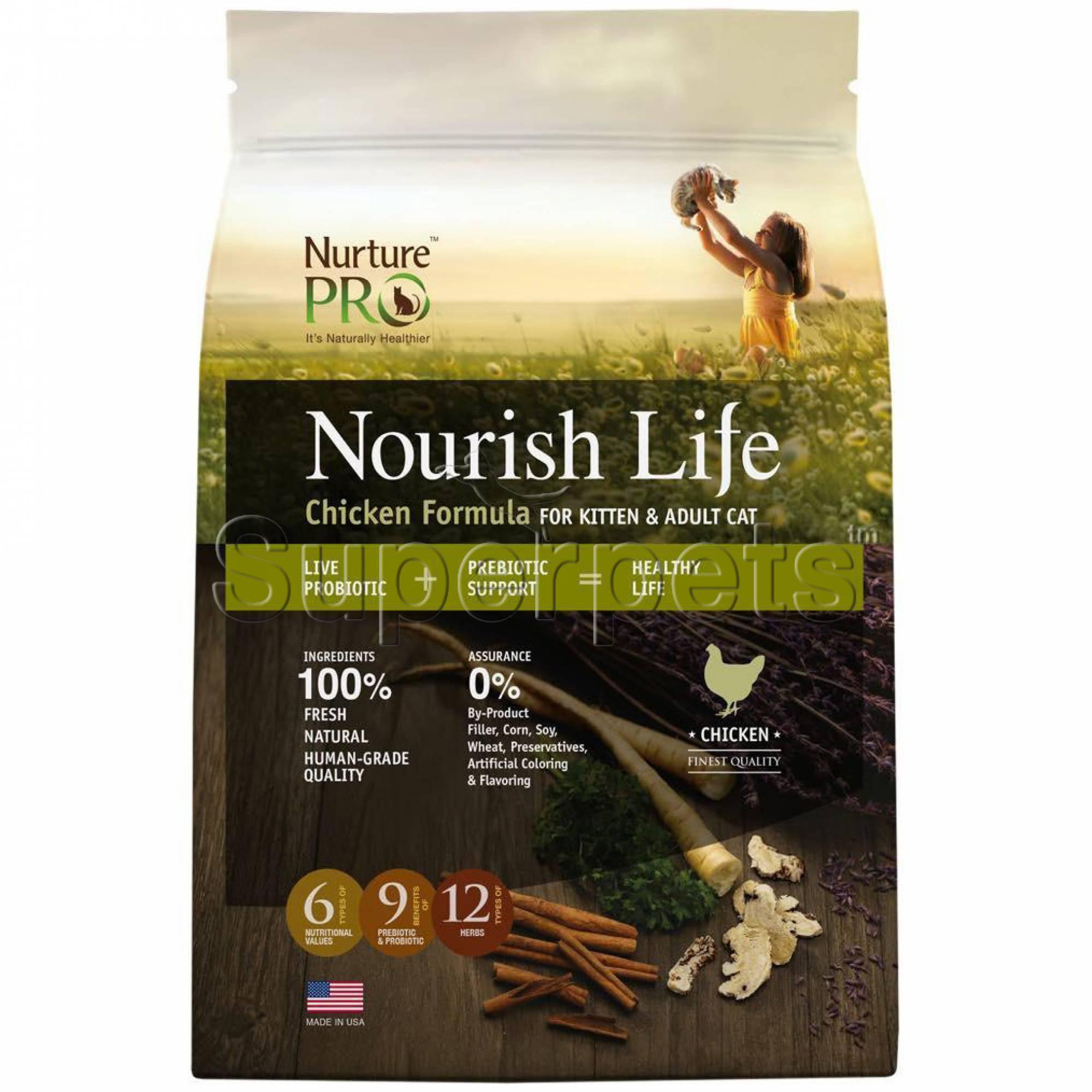 Nurture Pro - Nourish Life - Chicken Formula for Cat & Kitten 40lb (18.14kg)
