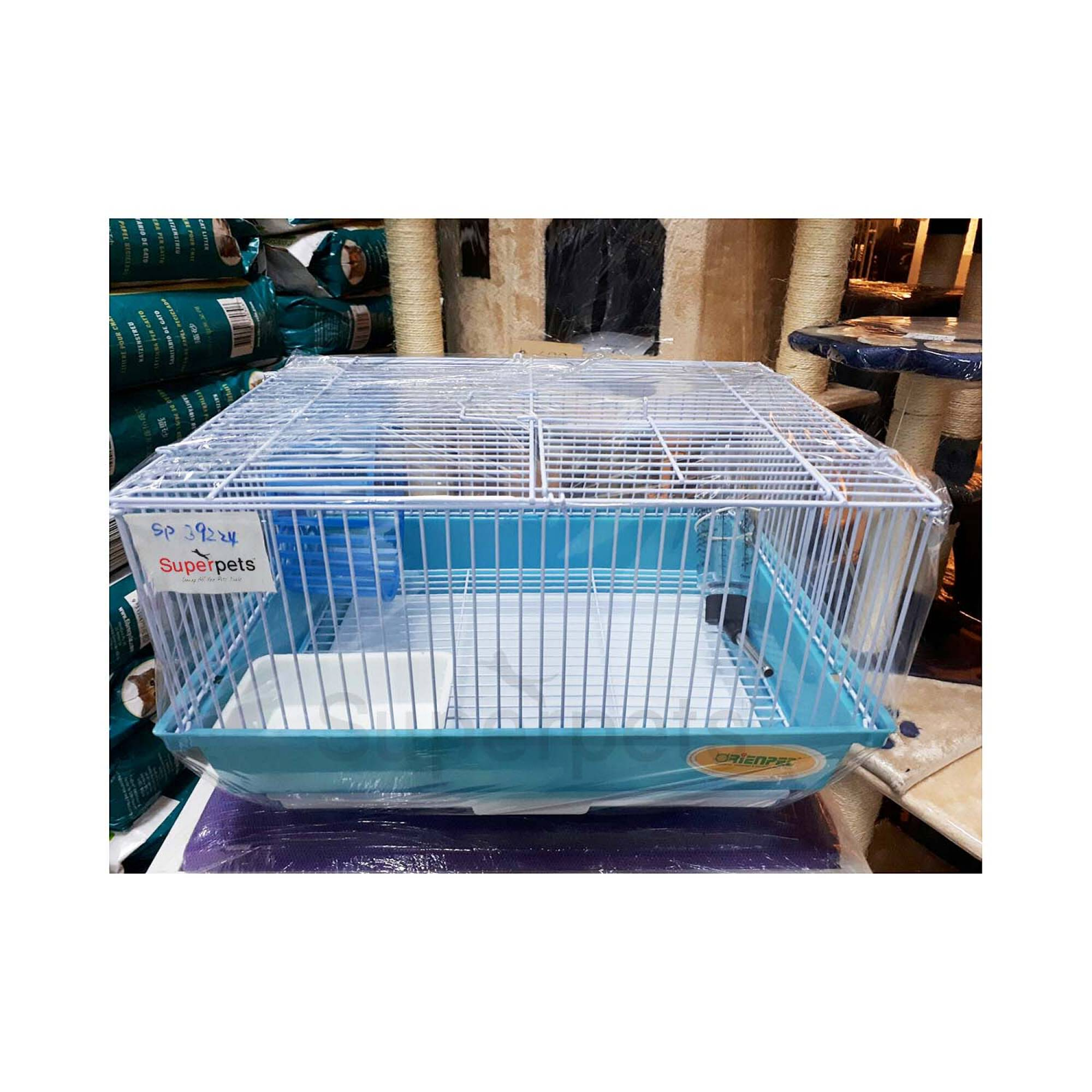 OPSP39224 Hamster Cage - Blue / Green / Yellow - Blue