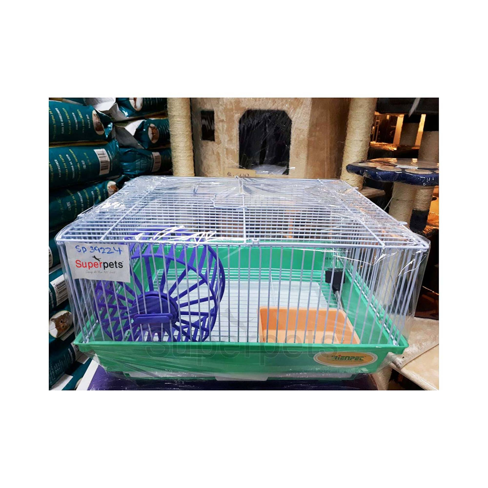 OPSP39224 Hamster Cage - Blue / Green / Yellow - Green