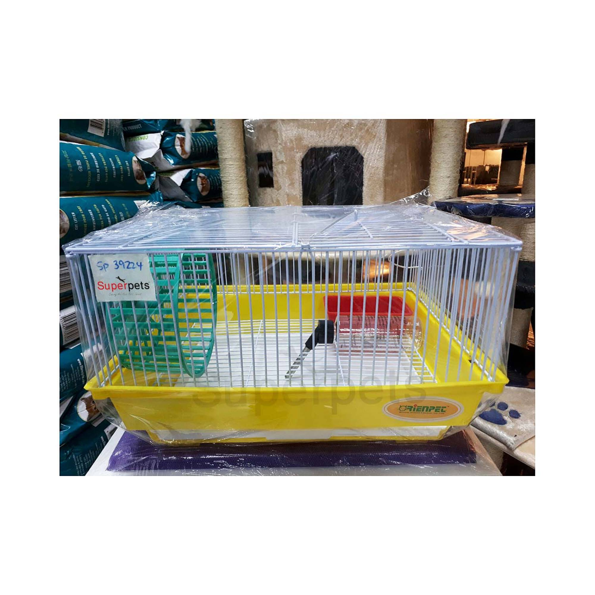OPSP39224 Hamster Cage - Blue / Green / Yellow - Yellow