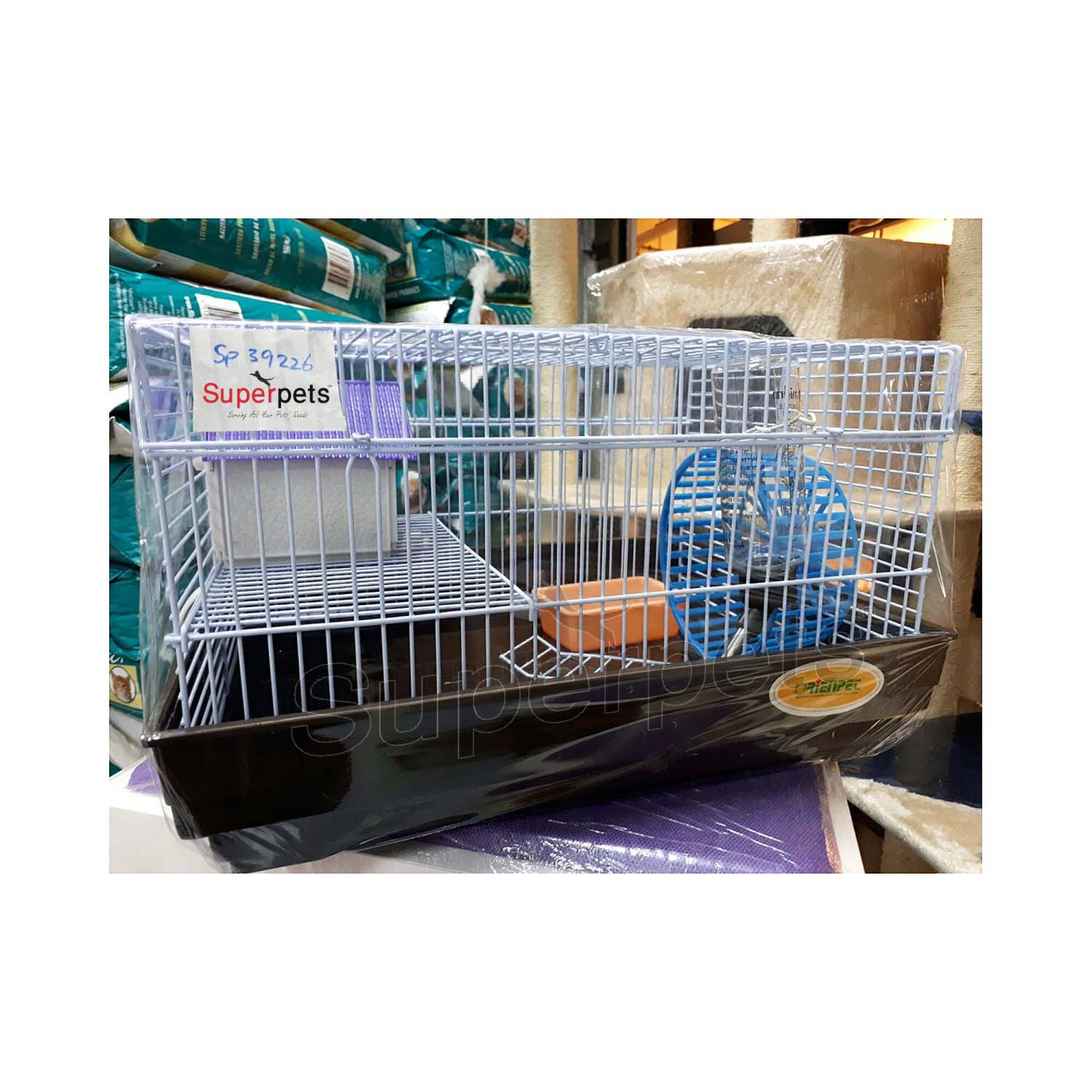 OPSP39226 Hamster Cage - Blue / Brown / Green - Brown