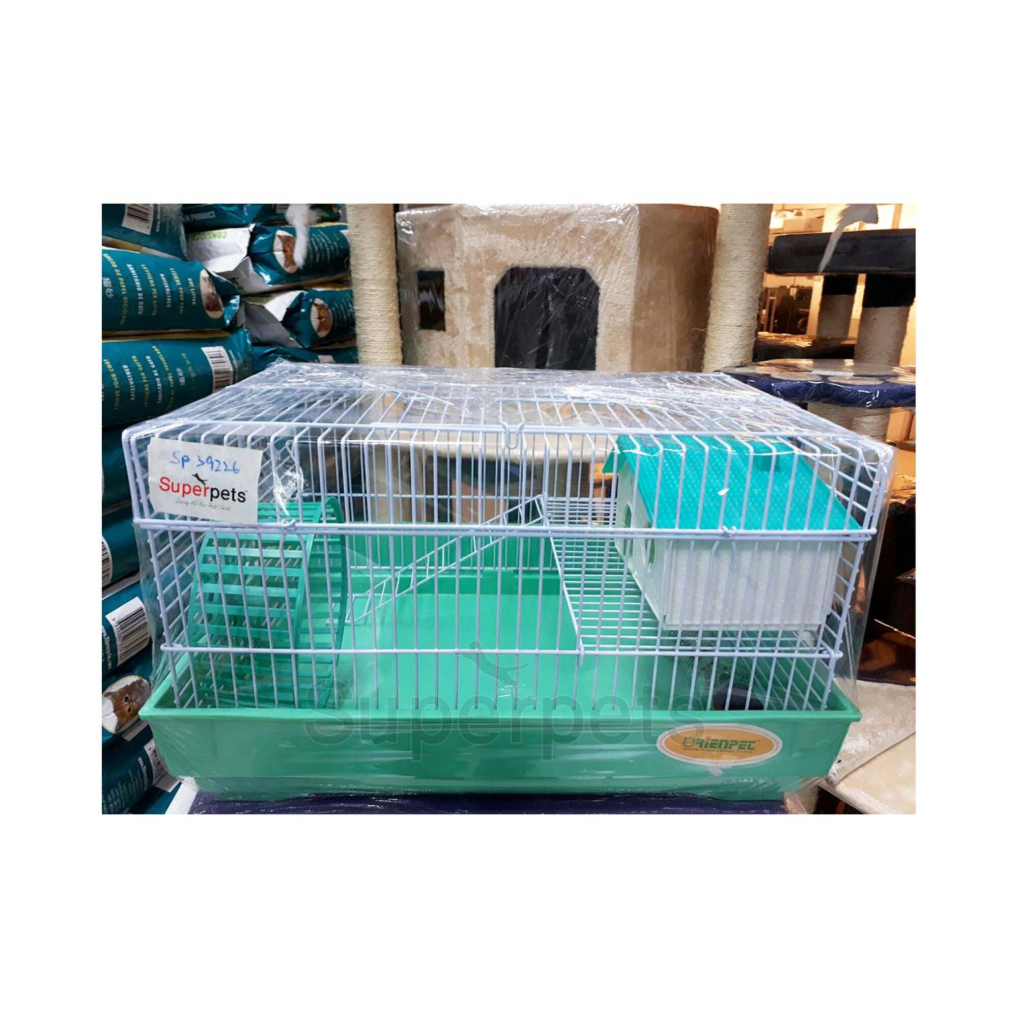 OPSP39226 Hamster Cage - Blue / Brown / Green - Green