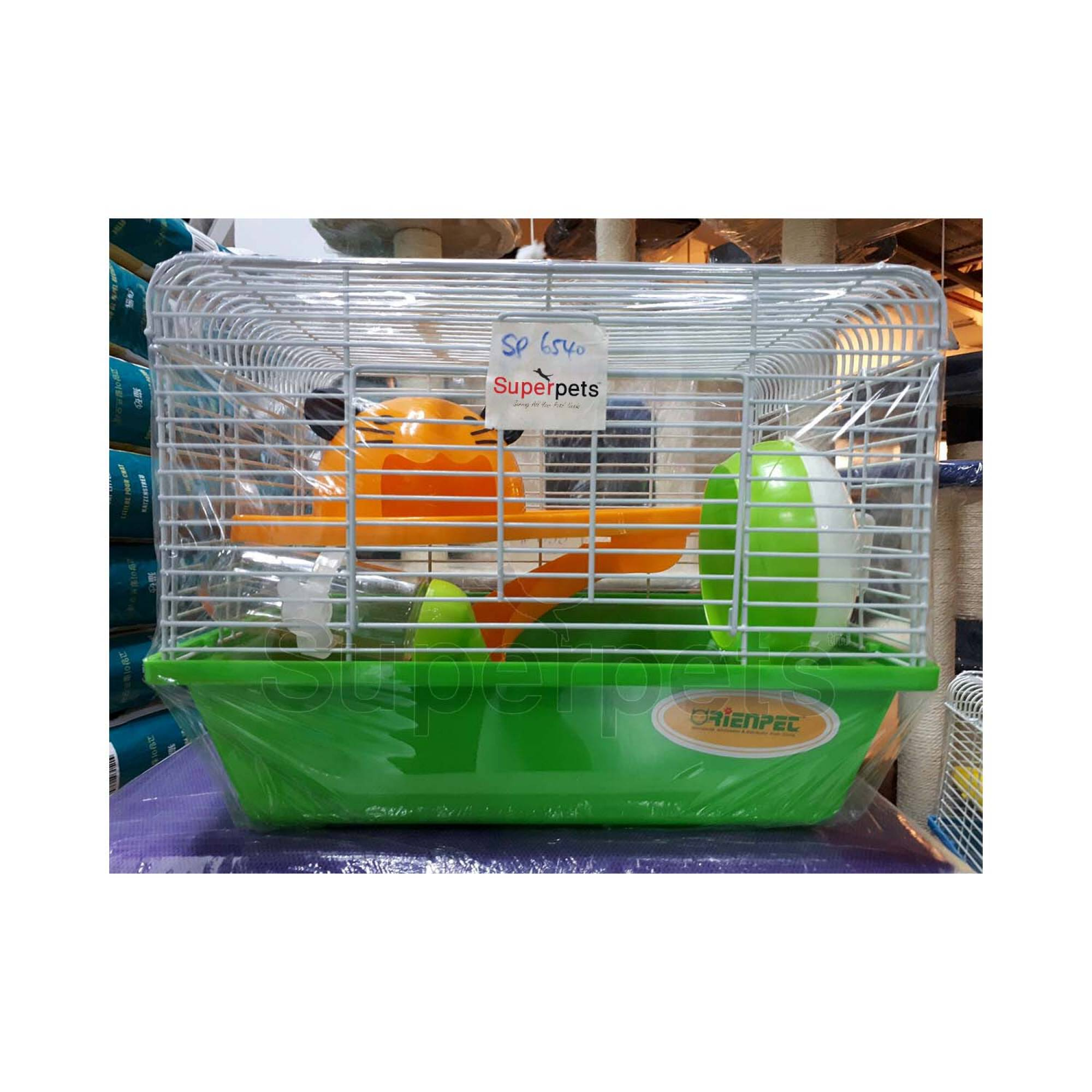 OPSP6540 Hamster Cage - Blue / Green - Green