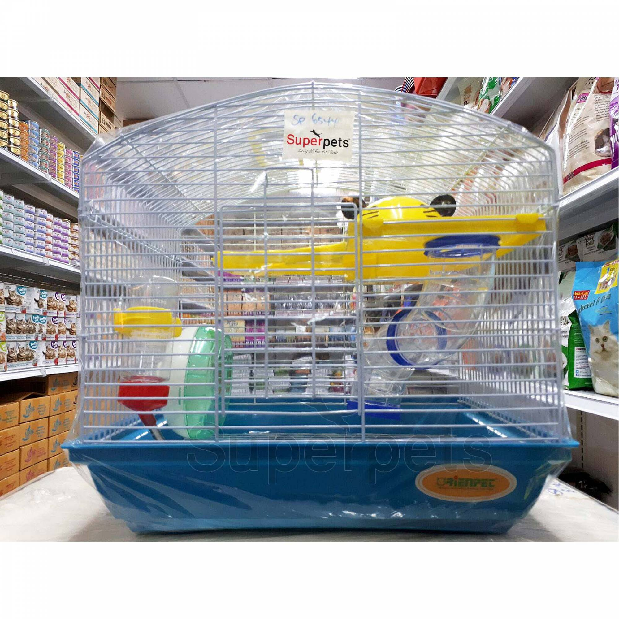 OPSP6544 Hamster Cage - Blue / Pink / Purple - Blue