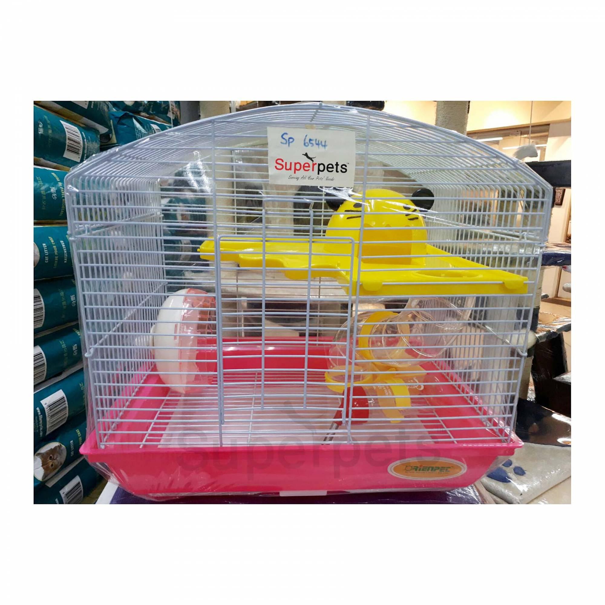 OPSP6544 Hamster Cage - Blue / Pink / Purple - Pink
