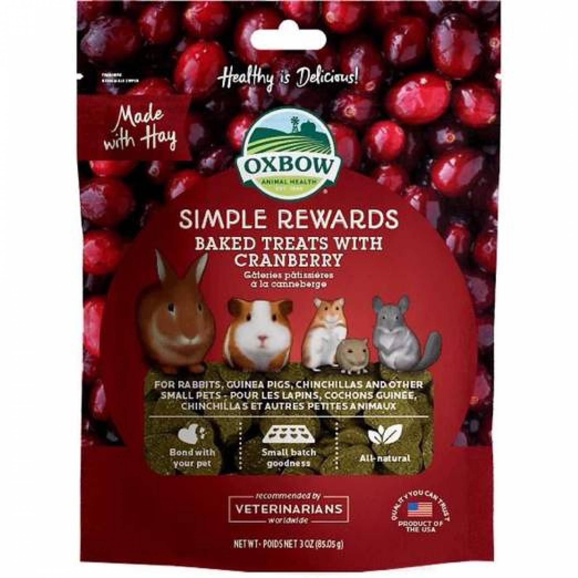 Oxbow Simple Rewards Baked Treats - Cranberry 60g