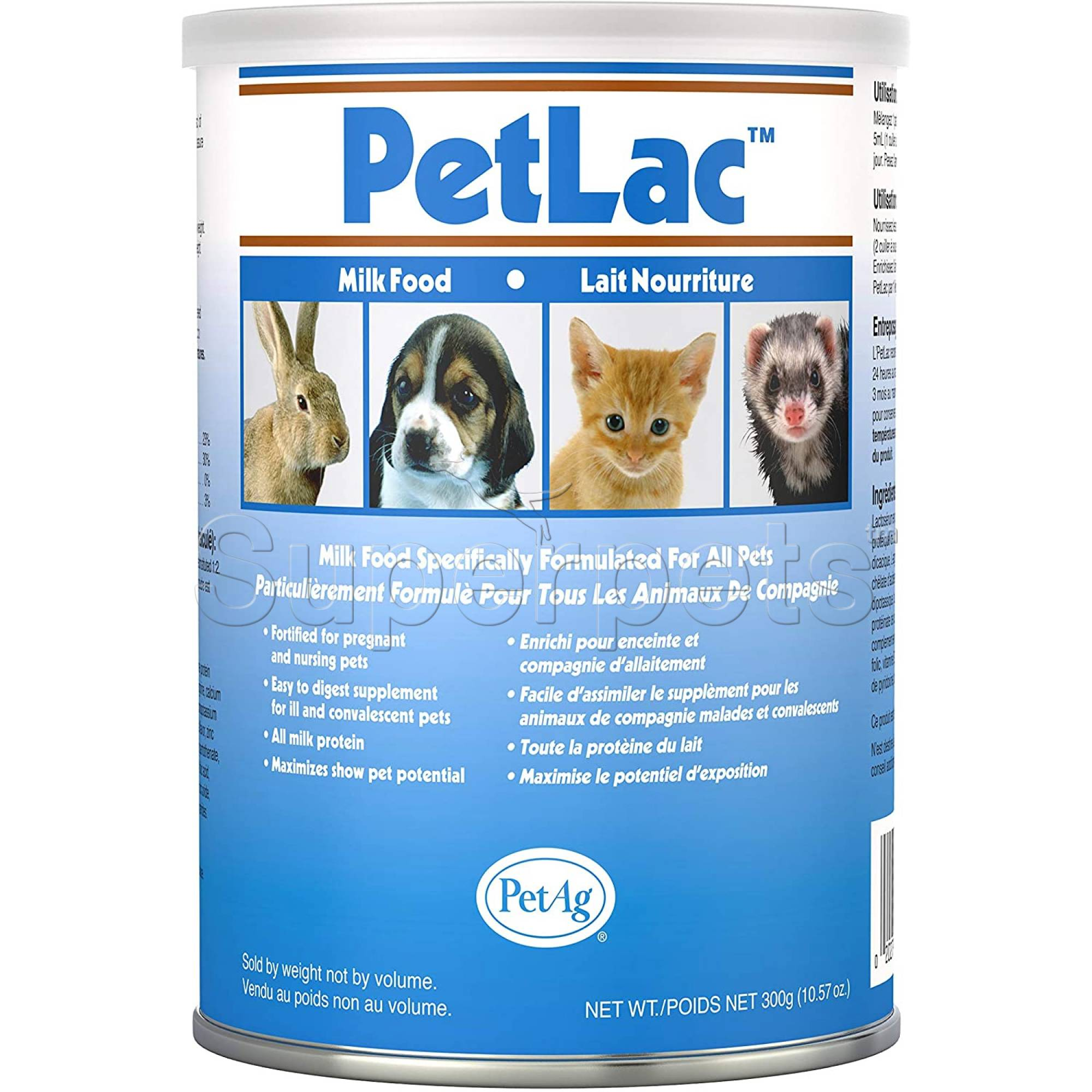 PetAg Petlac Powder for Cats & Dogs 300g