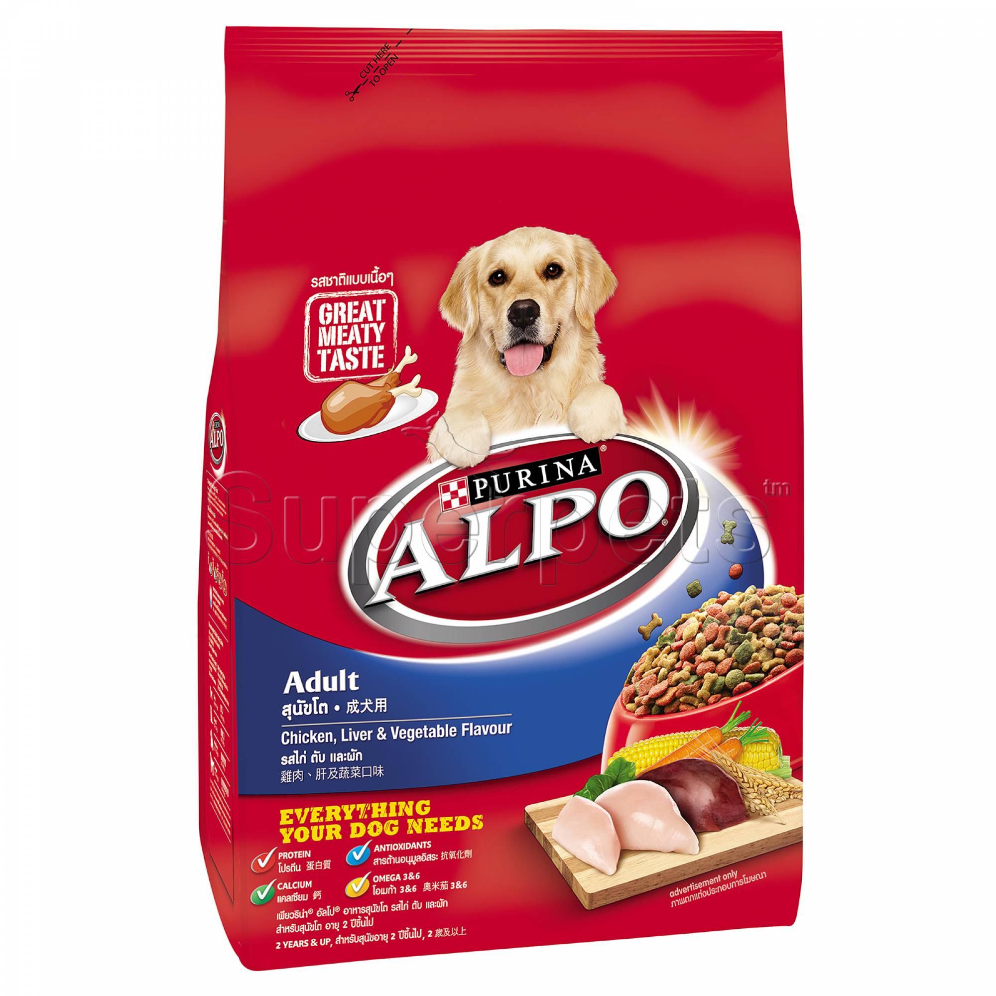 Alpo - Adult Chicken, Liver & Vegetable Flavour 1.5kg