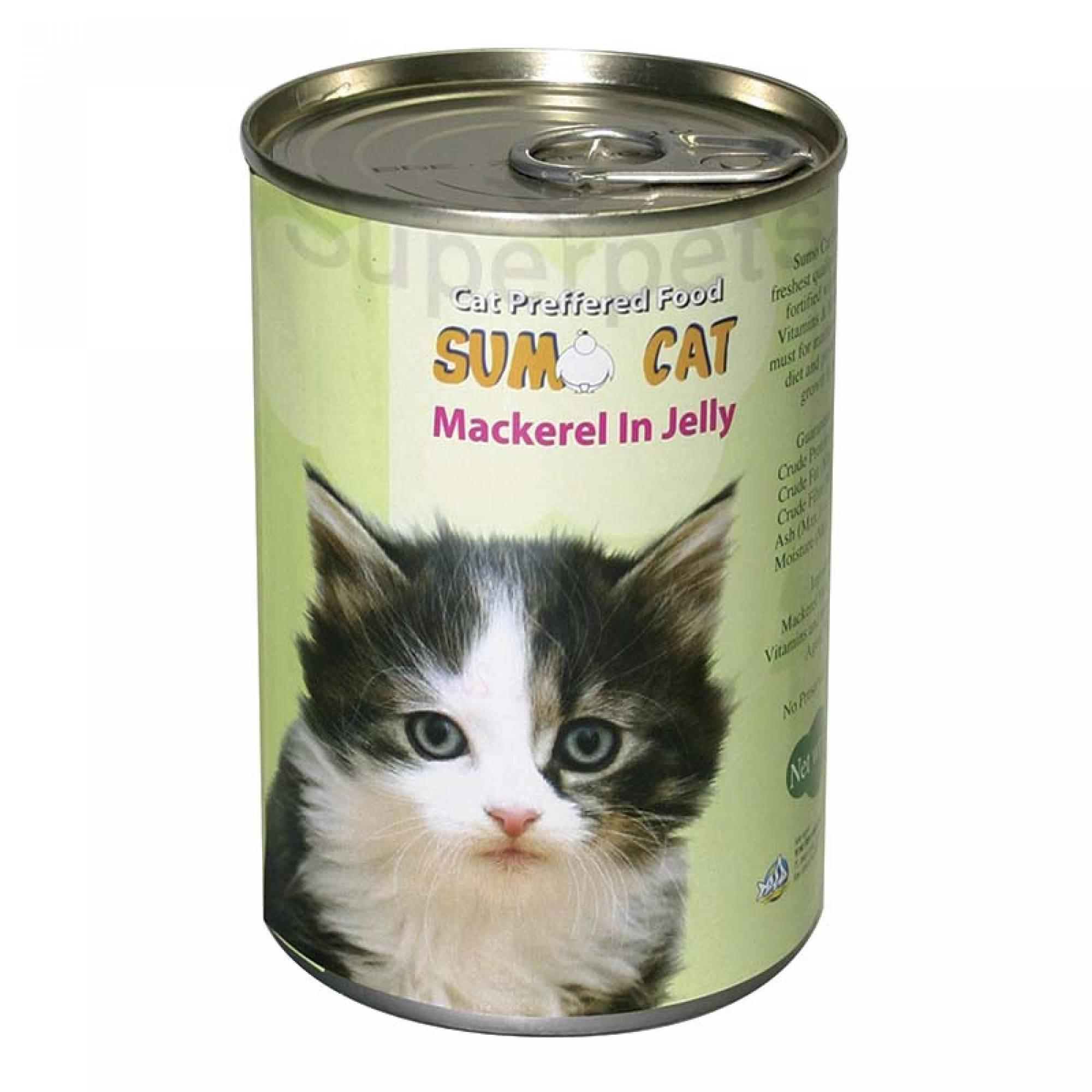 Sumo Cat - Mackerel in Jelly 400g x 24pcs (1 carton)