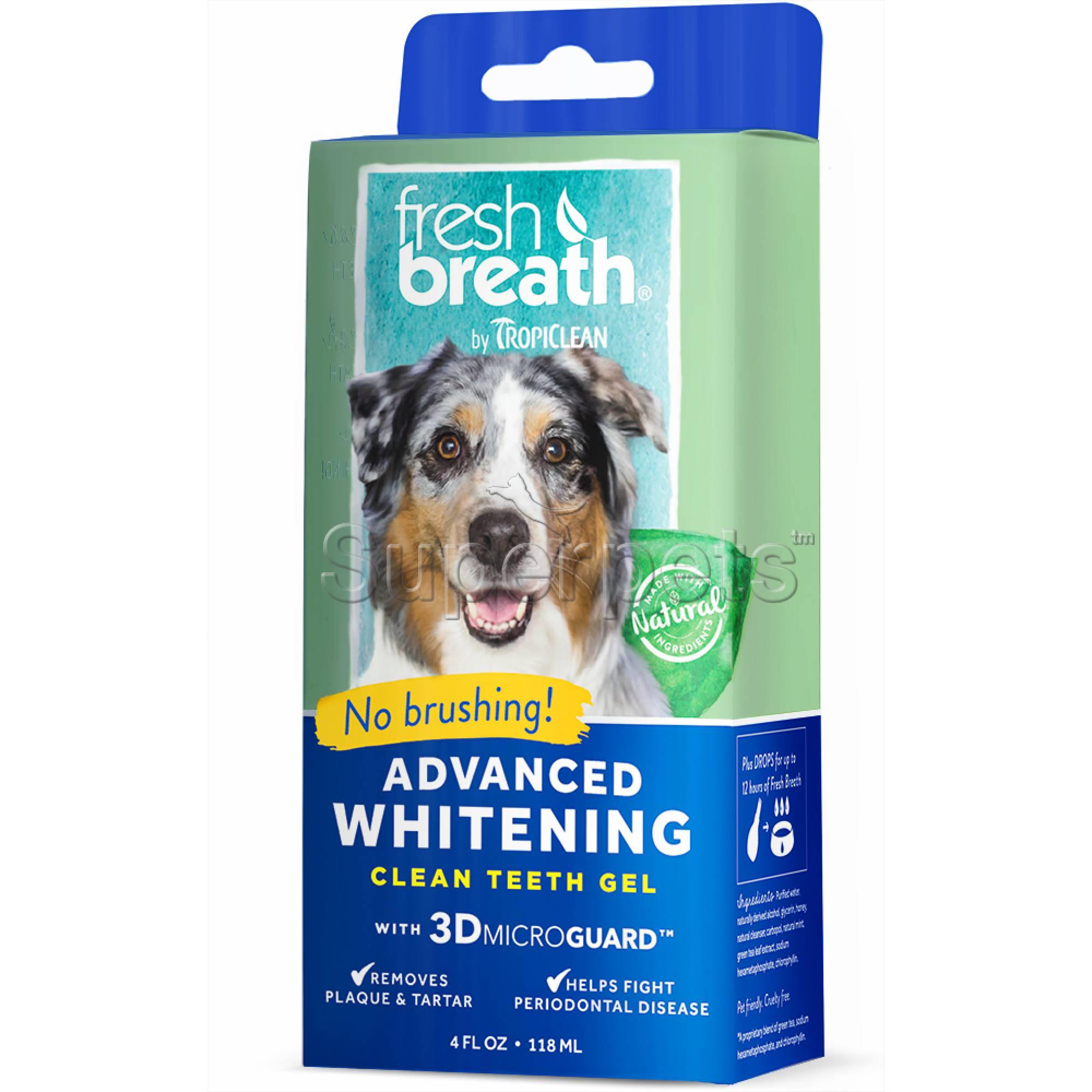 Tropiclean FRESH BREATH Advanced Whitening Clean Teeth Gel 4oz (118ml)