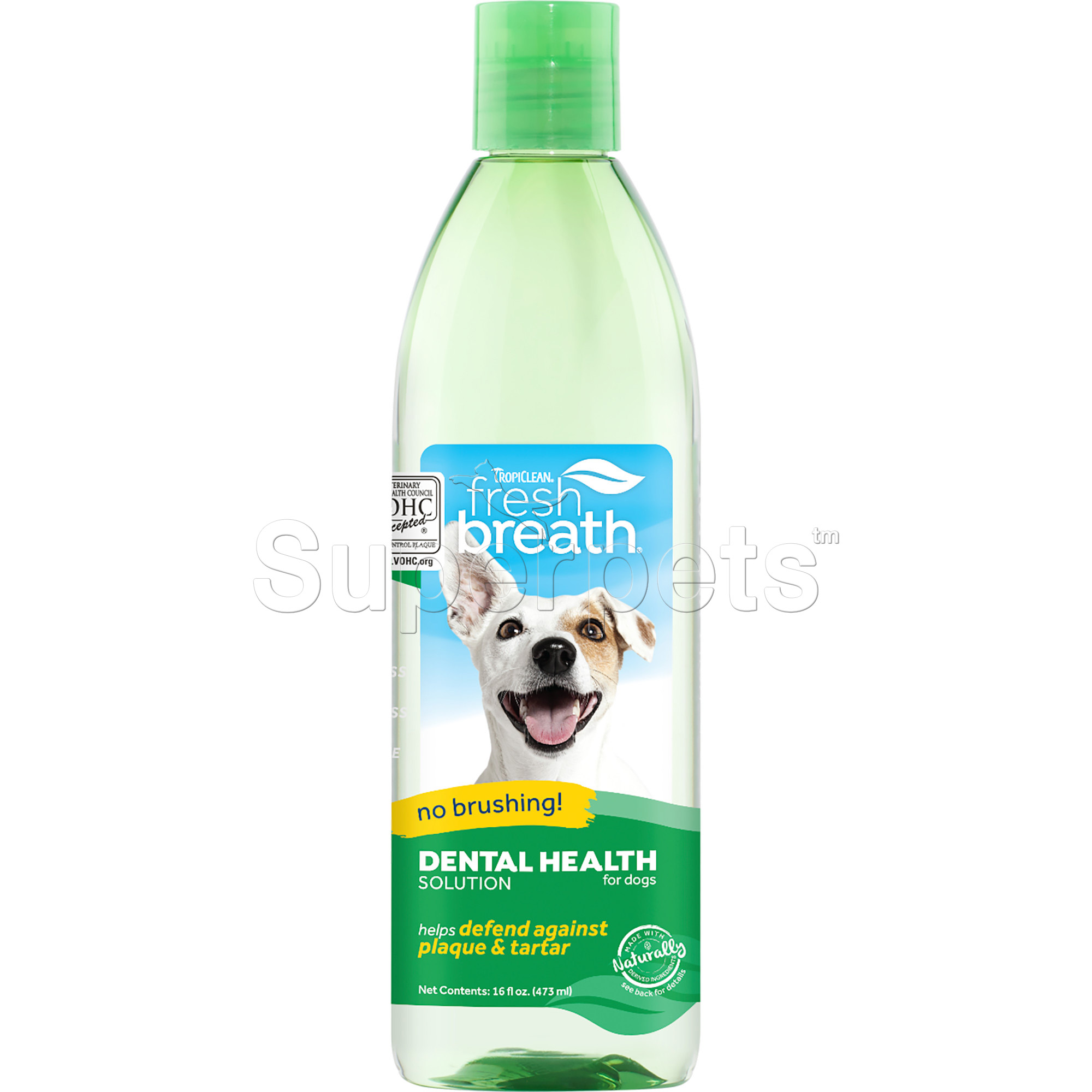 Tropiclean FRESH BREATH Oral Care Water Additive for Dogs & Cats - Plaque & Tartar Remover 16oz (473ml)