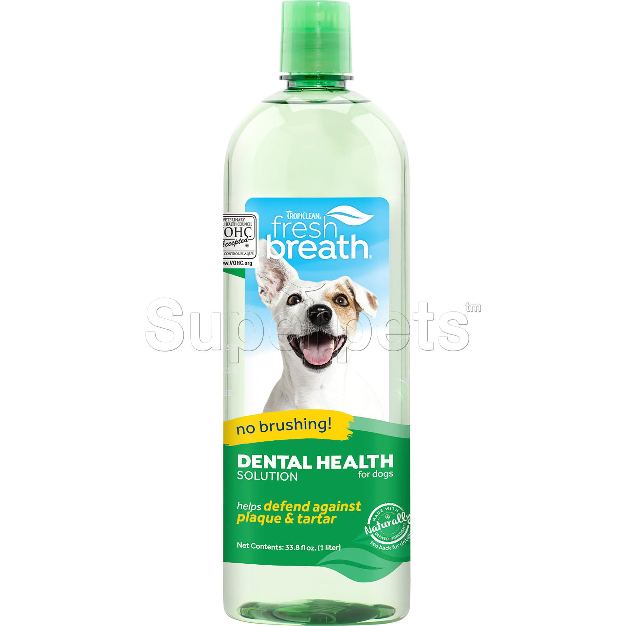 Tropiclean FRESH BREATH Oral Care Water Additive for Dogs & Cats - Plaque & Tartar Remover 33.8oz (1L)