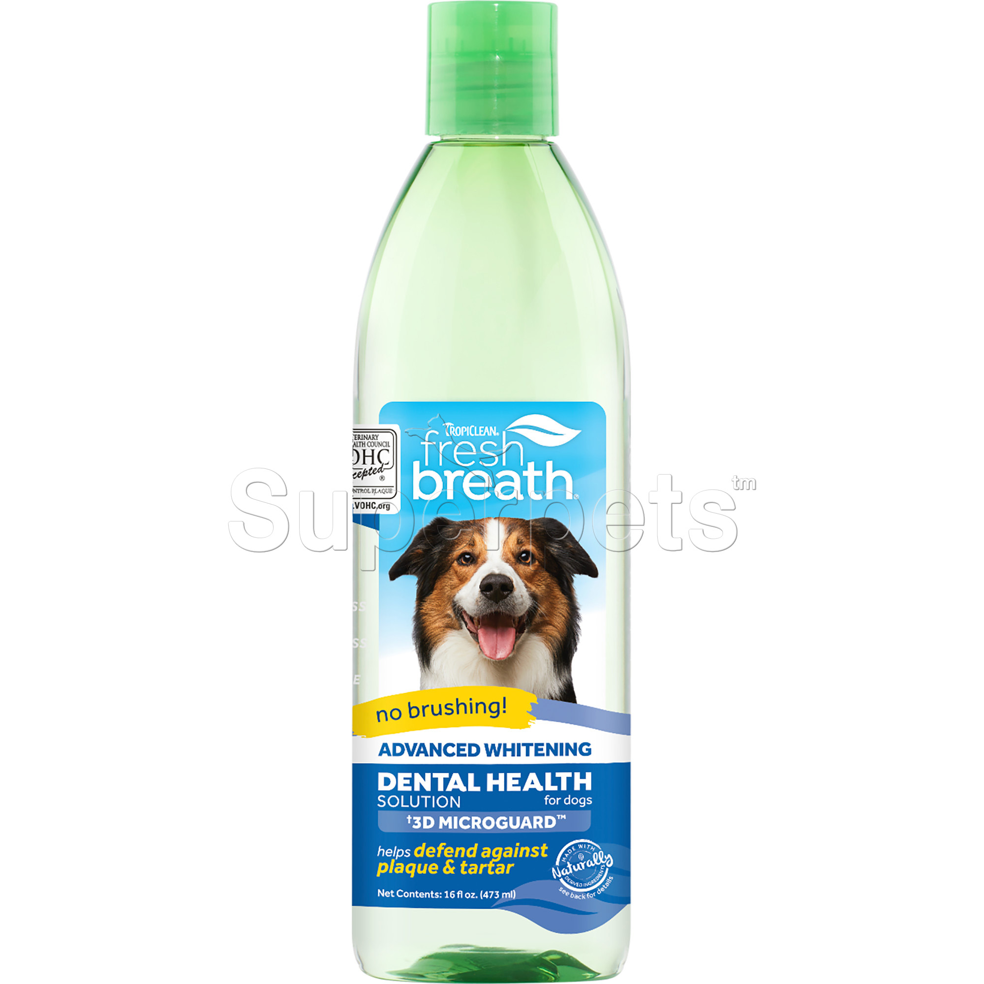 Tropiclean FRESH BREATH Oral Care Water Additive for Dogs - Advanced Whitening 16oz (473ml)
