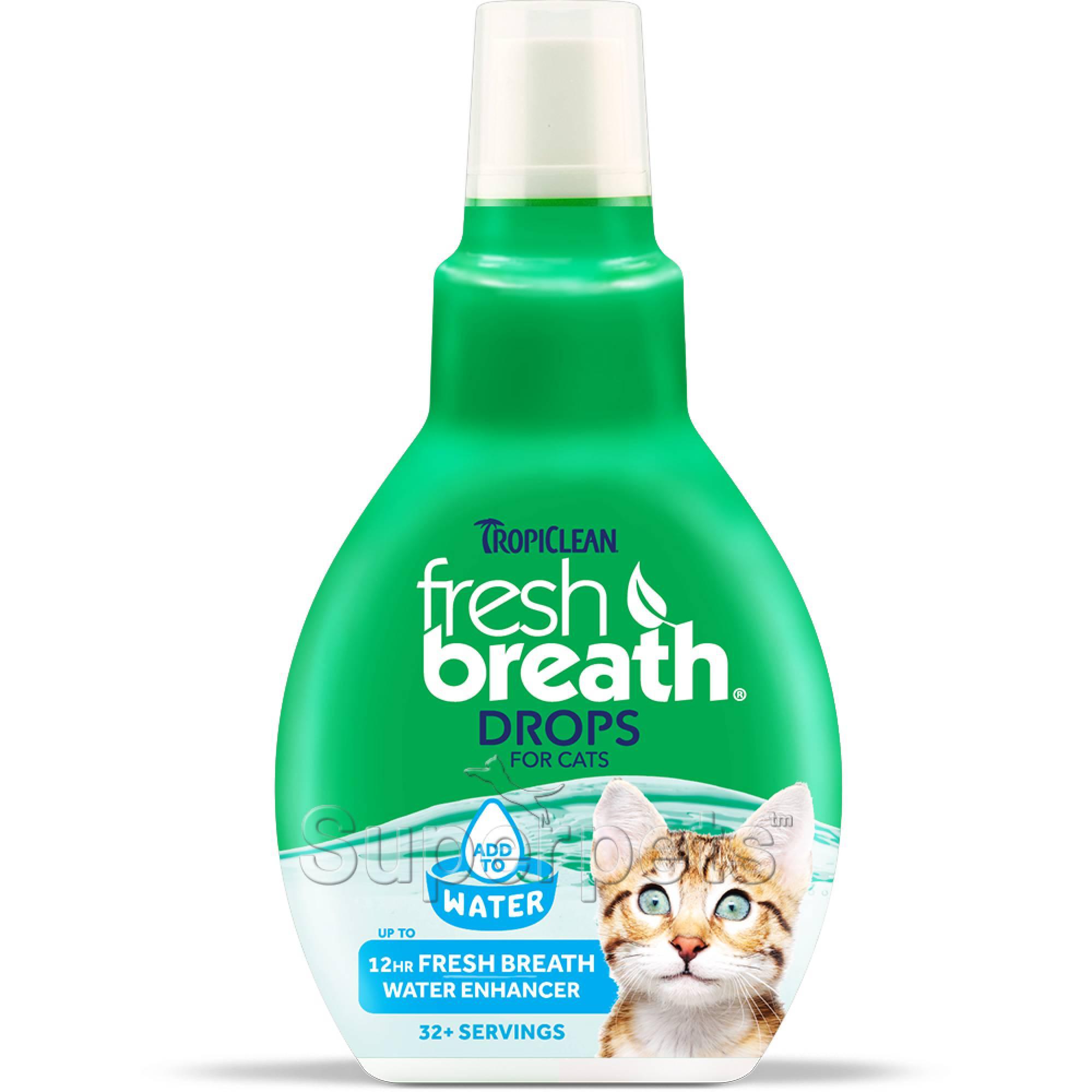 Tropiclean FRESH BREATH Drops for Cats 2.2oz (65ml)